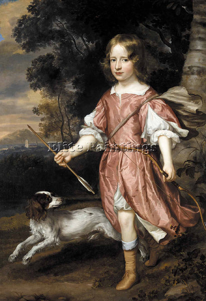 JAN MYTENS PORTRAIT OF THE SON OF A NOBLEMAN AS CUPID ARTIST PAINTING HANDMADE