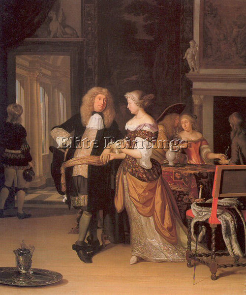 DUTCH NEER EGLON VAN DER DUTCH 1634 1703 ARTIST PAINTING REPRODUCTION HANDMADE