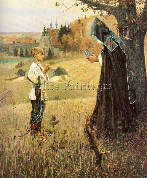 RUSSIAN NESTEROV MIKHAIL RUSSIAN 1862 1942 2 ARTIST PAINTING HANDMADE OIL CANVAS