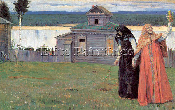 RUSSIAN NESTEROV MIKHAIL RUSSIAN 1862 1942 4 ARTIST PAINTING HANDMADE OIL CANVAS