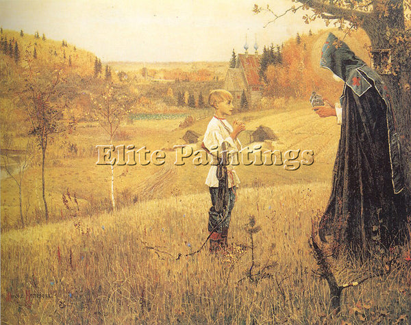 RUSSIAN NESTEROV MIKHAIL RUSSIAN 1862 1942 ARTIST PAINTING REPRODUCTION HANDMADE