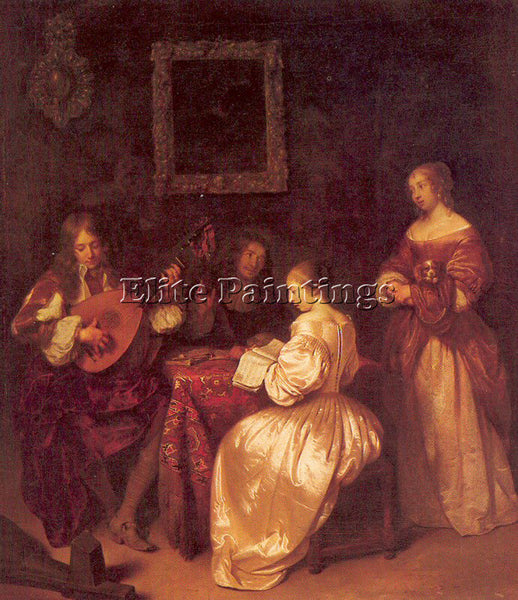 DUTCH NETSCHER CASPAR DUTCH 1639 84 2 ARTIST PAINTING REPRODUCTION HANDMADE OIL