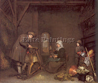 DUTCH NETSCHER CASPAR DUTCH 1639 84 ARTIST PAINTING REPRODUCTION HANDMADE OIL
