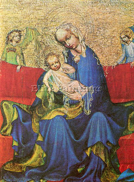 RUSSIAN NEUHAUS MADONNA MASTER OF THE CZECHOSLOVAKIAN ACTIVE 1390 1400 PAINTING