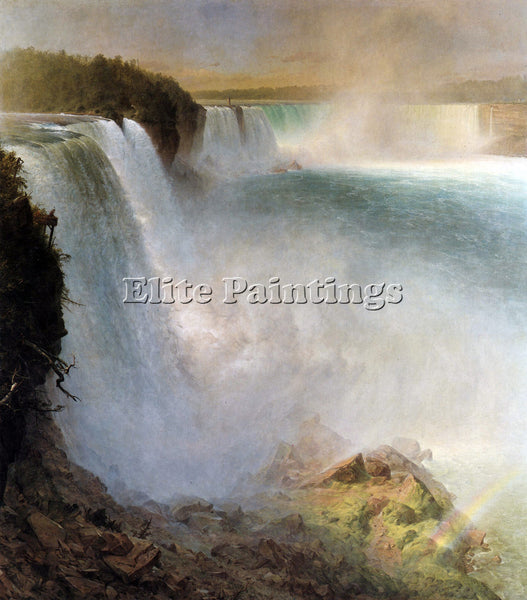 HUDSON RIVER NIAGARA FALLS FROM AMERICAN SIDE BY FREDERICK EDWIN CHURCH PAINTING