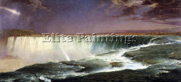 HUDSON RIVER NIAGARA BY FREDERICK EDWIN CHURCH ARTIST PAINTING REPRODUCTION OIL