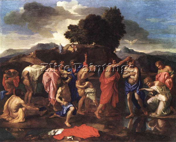 NICOLAS POUSSIN SACRAMENT OF BAPTISM 1 ARTIST PAINTING REPRODUCTION HANDMADE OIL