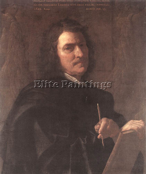NICOLAS POUSSIN SELF PORTRAIT 1649 ARTIST PAINTING REPRODUCTION HANDMADE OIL ART
