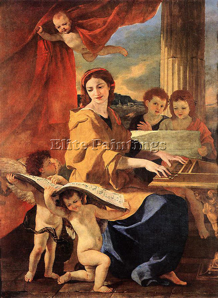 NICOLAS POUSSIN ST CECILIA 1 ARTIST PAINTING REPRODUCTION HANDMADE CANVAS REPRO