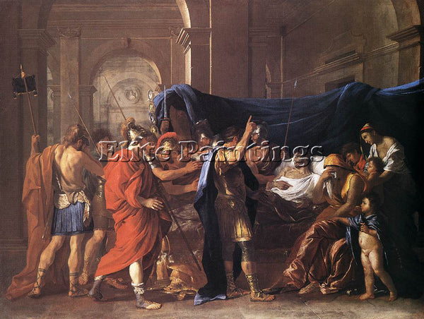 NICOLAS POUSSIN DEATH OF GERMANICUS ARTIST PAINTING REPRODUCTION HANDMADE OIL