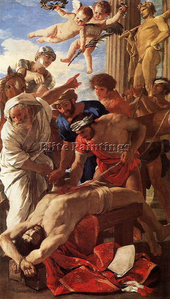 NICOLAS POUSSIN MATYRDOM OF ST ERASMUS ARTIST PAINTING REPRODUCTION HANDMADE OIL