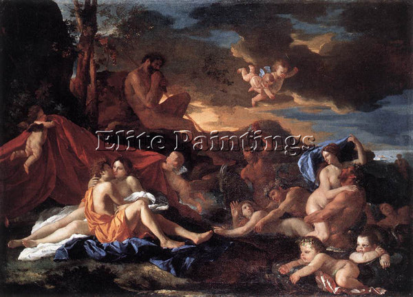 NICOLAS POUSSIN  ACIS AND GALATEA ARTIST PAINTING REPRODUCTION HANDMADE OIL DECO