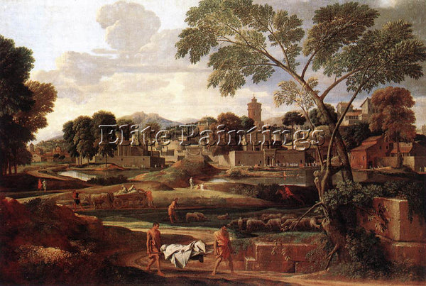 NICOLAS POUSSIN  LANDSCAPE WITH THE FUNERAL OF PHOCION ARTIST PAINTING HANDMADE