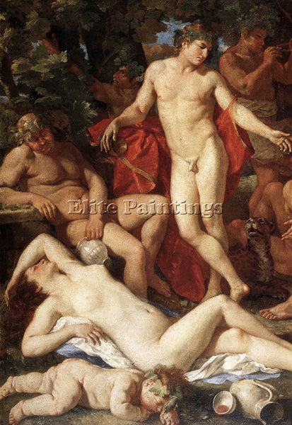 NICOLAS POUSSIN  MIDAS AND BACCHUS DETAIL1 ARTIST PAINTING REPRODUCTION HANDMADE
