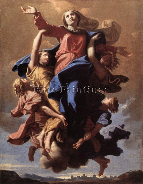 NICOLAS POUSSIN  THE ASSUMPTION OF THE VIRGIN ARTIST PAINTING REPRODUCTION OIL