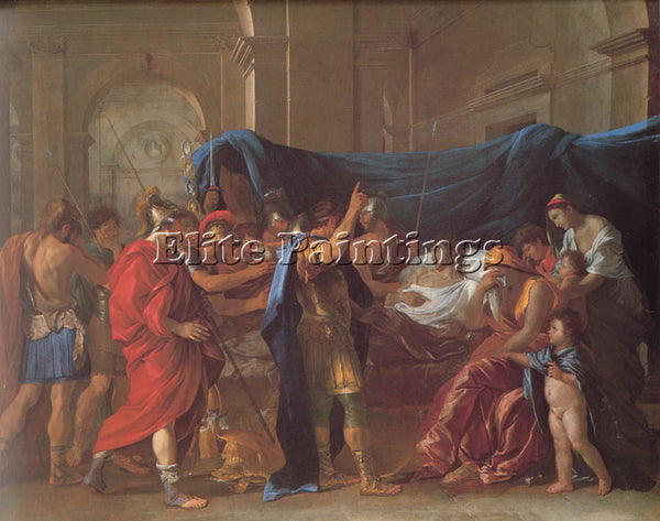 NICOLAS POUSSIN  THE DEATH OF GERMANICUS ARTIST PAINTING REPRODUCTION HANDMADE