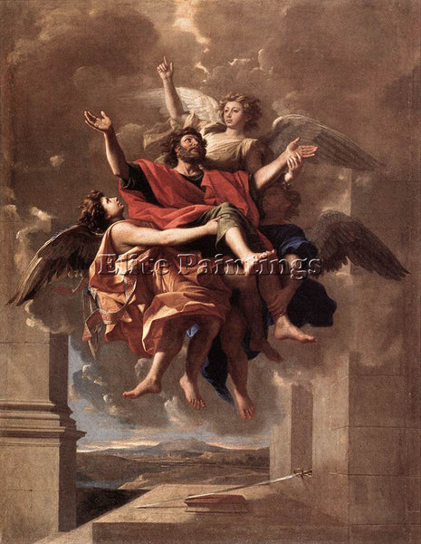 NICOLAS POUSSIN  THE ECSTASY OF ST PAUL ARTIST PAINTING REPRODUCTION HANDMADE