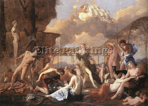 NICOLAS POUSSIN  THE EMPIRE OF FLORA ARTIST PAINTING REPRODUCTION HANDMADE OIL