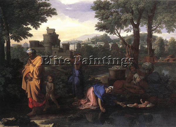 NICOLAS POUSSIN  THE EXPOSITION OF MOSES ARTIST PAINTING REPRODUCTION HANDMADE