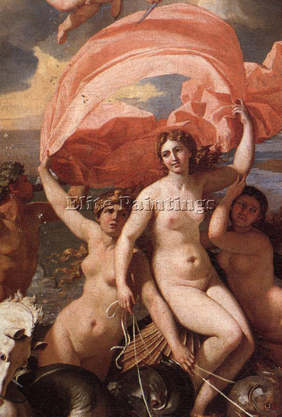 NICOLAS POUSSIN  THE TRIUMPH OF NEPTUNE DETAIL1 ARTIST PAINTING REPRODUCTION OIL