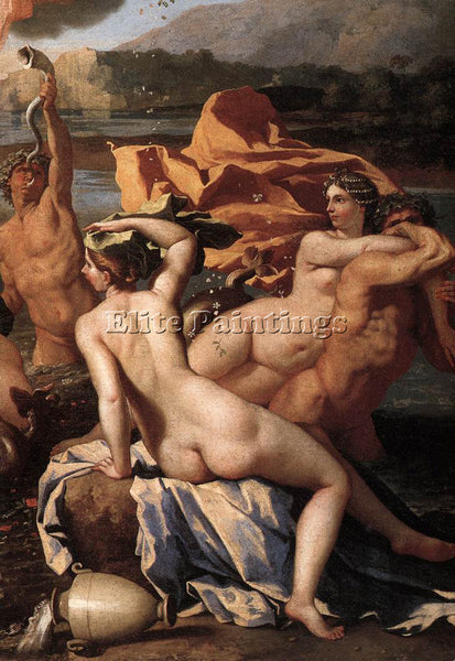 NICOLAS POUSSIN  THE TRIUMPH OF NEPTUNE DETAIL2 ARTIST PAINTING REPRODUCTION OIL