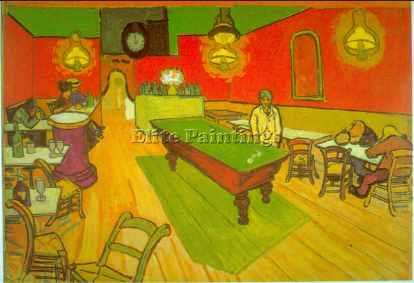 VAN GOGH NIGHT CAFE ARTIST PAINTING REPRODUCTION HANDMADE CANVAS REPRO WALL DECO