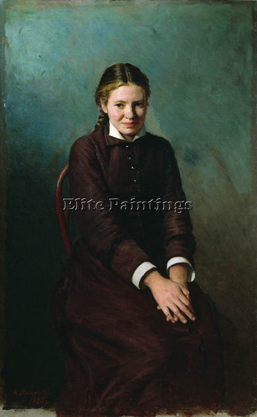NIKOLAI YAROSHENKO GIRL STUDENT 1883 ARTIST PAINTING REPRODUCTION HANDMADE OIL