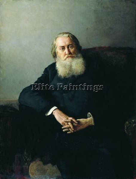 NIKOLAI YAROSHENKO PORTRAIT OF A N PLESCHEEV 1888 ARTIST PAINTING REPRODUCTION