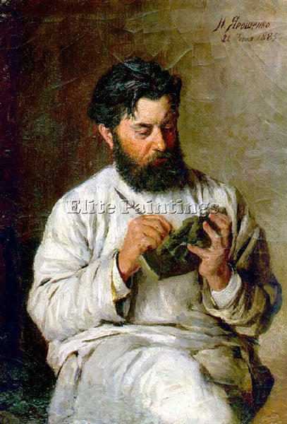 NIKOLAI YAROSHENKO PORTRAIT OF THE SCULPTOR L V POSEN 1885 ARTIST PAINTING REPRO