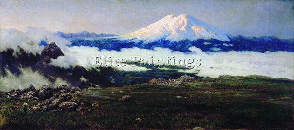 NIKOLAI YAROSHENKO SAT MOUNT MOUNT ELBRUS 1884 ARTIST PAINTING REPRODUCTION OIL