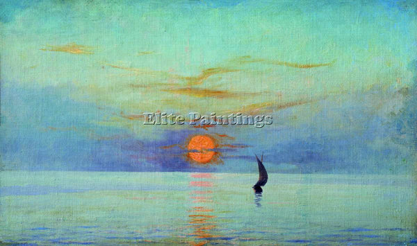 NIKOLAI YAROSHENKO SUNSET ARTIST PAINTING REPRODUCTION HANDMADE OIL CANVAS REPRO