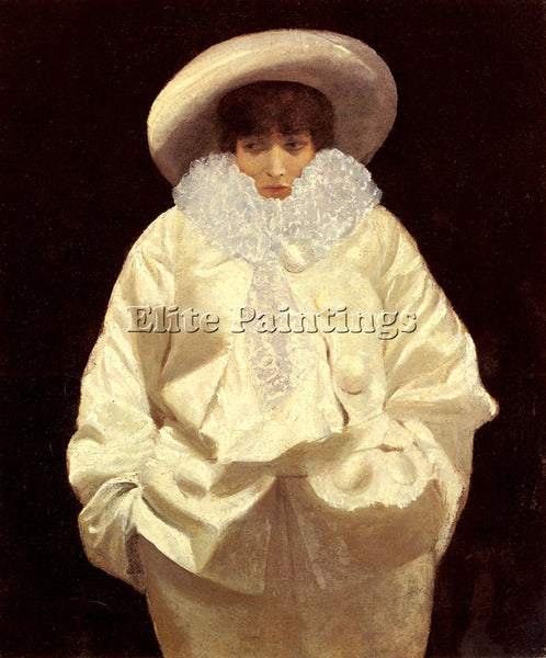 GIUSEPPE DE NITTIS  SARAH BERNHARDT AS PIERROT ARTIST PAINTING REPRODUCTION OIL