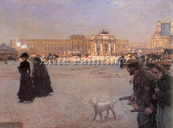 GIUSEPPE DE NITTIS  DE PLACE DE CARROUSEL AND RUINS TUILERIES PALACE IN PAINTING
