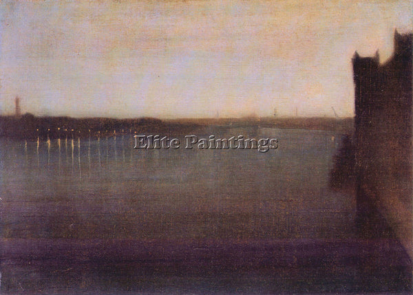 JAMES MCNEILL NOCTURNE IN GRAY AND GOLD WESTMINSTER BRIDGE WHISTLER PAINTING OIL