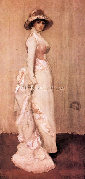 JAMES ABBOT MCNEILL NOCTURNE IN PINK AND GRAY PORTRAIT LADY MEUX WHISTLER CANVAS