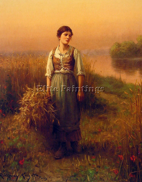 DANIEL RIDGWAY KNIGHT NORMANDY MAID ARTIST PAINTING REPRODUCTION HANDMADE OIL