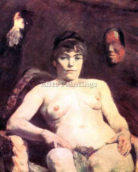TOULOUSE-LAUTREC NUDE ARTIST PAINTING REPRODUCTION HANDMADE OIL CANVAS REPRO ART