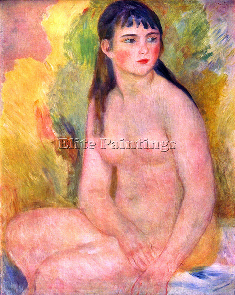 RENOIR NUDE FEMALE ARTIST PAINTING REPRODUCTION HANDMADE CANVAS REPRO WALL DECO