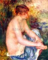 RENOIR NUDE IN BLUE ARTIST PAINTING REPRODUCTION HANDMADE CANVAS REPRO WALL DECO