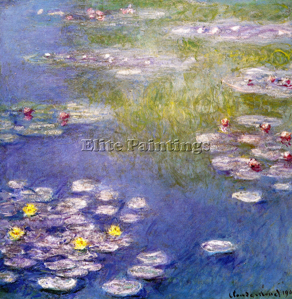 MONET NYMPHEAS AT GIVERNY 2 ARTIST PAINTING REPRODUCTION HANDMADE OIL CANVAS ART