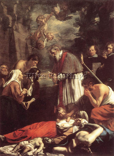 OOST JACOB VAN YOUNGER ST MACARIUS GHENT GIVING AID TO PLAGUE VICTIMS ARTIST OIL