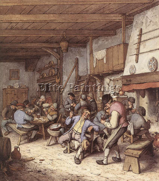 ADRIAEN VAN OSTADE TAVERN INTERIOR ARTIST PAINTING REPRODUCTION HANDMADE OIL ART