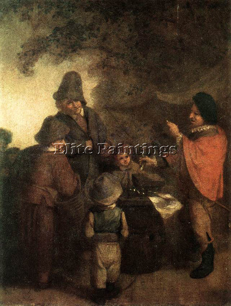 ADRIAEN VAN OSTADE THE STALL KEEPER ARTIST PAINTING REPRODUCTION HANDMADE OIL