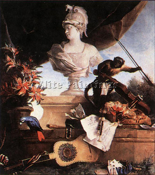 JEAN-BAPTISTE OUDRY  ALLEGORY OF EUROPE ARTIST PAINTING REPRODUCTION HANDMADE