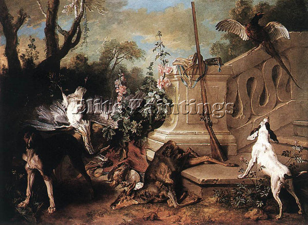 JEAN-BAPTISTE OUDRY  DEAD ROE ARTIST PAINTING REPRODUCTION HANDMADE CANVAS REPRO