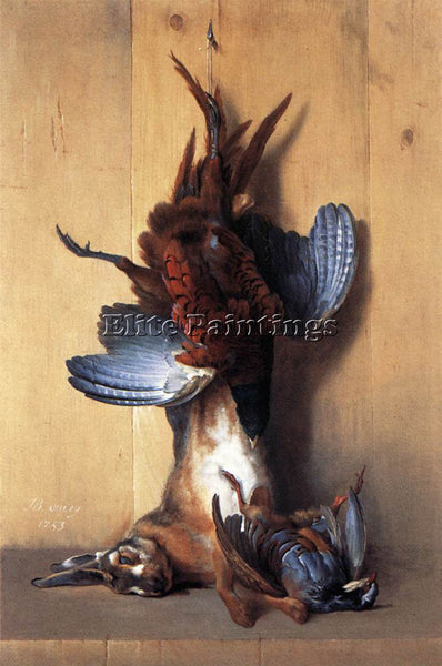 JEAN-BAPTISTE OUDRY  STILL LIFE WITH PHEASANT ARTIST PAINTING REPRODUCTION OIL