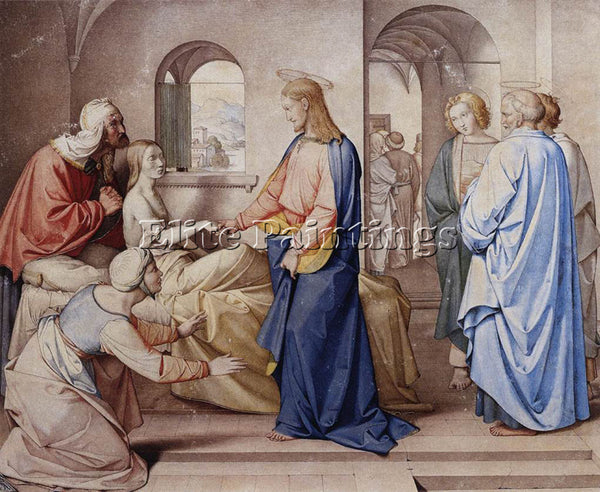 FRIEDRICH OVERBECK CHRIST RESURRECTS THE DAUGHTER OF JAIRU ARTIST PAINTING REPRO