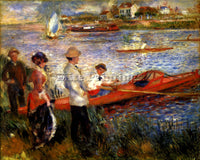 RENOIR OARSMAN OF CHATOU ARTIST PAINTING REPRODUCTION HANDMADE CANVAS REPRO WALL