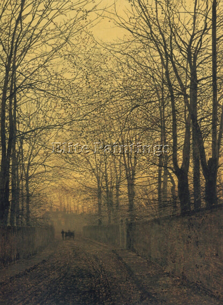 JOHN ATKINSON GRIMSHAW OCTOBER GOLD ARTIST PAINTING REPRODUCTION HANDMADE OIL