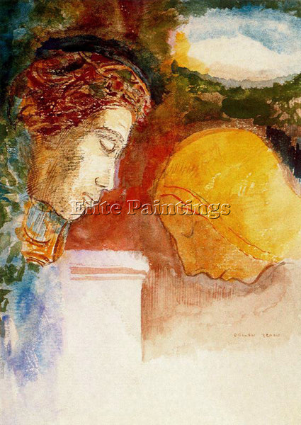 ODILON REDON REDO129 ARTIST PAINTING REPRODUCTION HANDMADE OIL CANVAS REPRO WALL